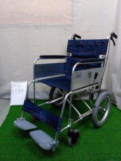 【中古車椅子】《Aランク》ミキ 介助式車椅子 かるがもくん(介助) MC-43KDB (WC-6484)