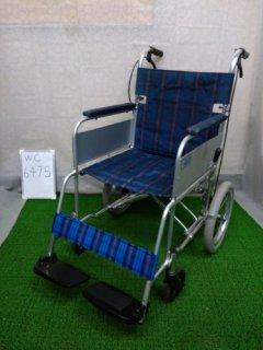 【中古車椅子】《Bランク》ミキ 介助式車椅子 かるがもくん(介助) MC-43KDB (WC-6475)