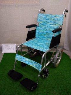 【中古車椅子】《Aランク》日進医療器 軽量・介助式車椅子 NAH-L7 (WC-K910491)