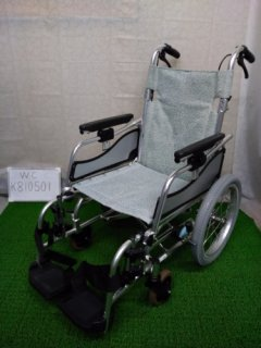 【中古車椅子】《Aランク》松永製作所 介助式車椅子 MW-SL6(WC-K810501)