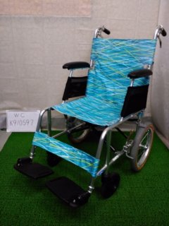 【中古車椅子】《Aランク》日進医療器 軽量・介助式車椅子 NAH-L7 (WC-K910597)