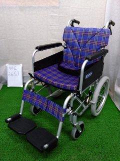 【中古車椅子】《Bランク》カワムラサイクル 介助式 KA816-40B-LO(WC-6657)