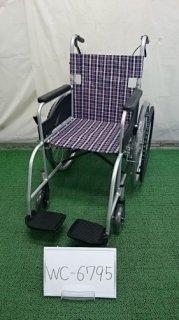 【中古車椅子】《Bランク》日進医療器 自走式車椅子 NEO-1 (WC-6795)