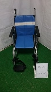 【中古車椅子】《Aランク》日進医療器 介助式車椅子 NA-3DX(介助) (WC-NC01306)