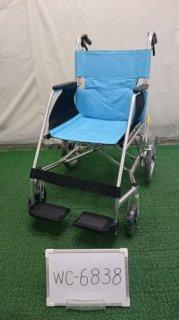 【中古車椅子】《Aランク》松永製作所 介助式車椅子 USL-2B  (WC-6838)