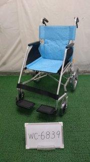 【中古車椅子】《Aランク》松永製作所 介助式車椅子 USL-2B  (WC-6839)
