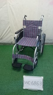 【中古車椅子】《Aランク》日進医療器 自走式車椅子 NEO-1 (WC-6863)