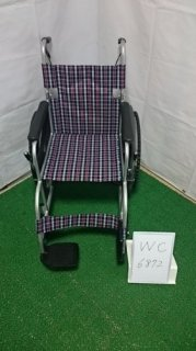 【中古車椅子】《Aランク》日進医療器 自走式車椅子 NEO-1 (WC-6872)