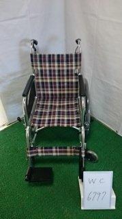 【中古車椅子】《Bランク》松永製作所 介助式車椅子 AR-201B(WC-6797) ※ハンドリム欠品
