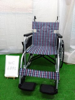【中古車椅子】《Aランク》日進医療器 自走式車椅子 NEO-1 (WC-6895)