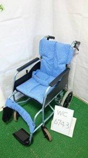 【中古車椅子】《Bランク》松永製作所 介助式車椅子 REM-8 (WC-6743)