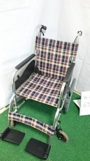 【中古車椅子】《Bランク》松永製作所 介助式車椅子 AR-300(WC-6702)