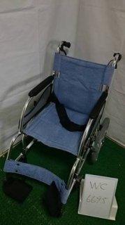 【中古車椅子】《Bランク》松永製作所 介助式車椅子 MW-SL21B (WC-6695)