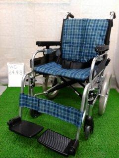 【中古車椅子】《Bランク》ミキ 介助式車椅子 MYU166JD (WC-6448)