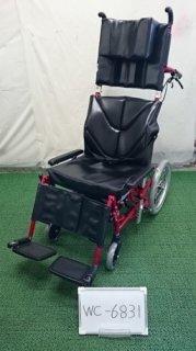 【中古車椅子】《Aランク品》カワムラサイクル リクライニング車椅子 KPF16-40 LO (WC-6831)