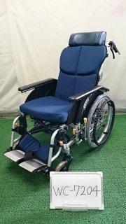 【中古 リクライニング車椅子 Aランク】松永製作所 リクライニング車椅子 オアシス OS-11TRSP (WC-7204)