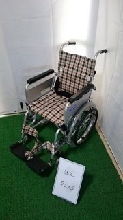 【Bランク 中古 車椅子】カワムラサイクル 自走式車椅子 KAK18-40 こまわりくん(介ブレ無)(WC-7236)