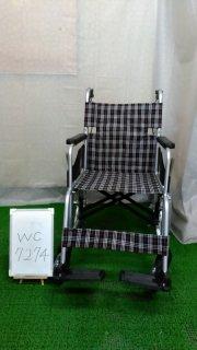 【Aランク 中古 車椅子】 日進医療器 介助式 車椅子 NC-2CB (WC-7274)