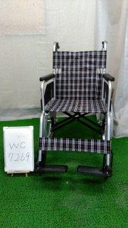 【Aランク 中古 車椅子】 日進医療器 介助式 車椅子 NC-2CB (WC-7269)