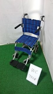 【Aランク 中古 車椅子】 カワムラサイクル 簡易式 車椅子 旅ぐるま KA4-N (WC-7328)