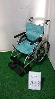【Bランク 中古 車椅子】 カワムラサイクル 自走式 車椅子 AYL22-40 (WC-7503)
