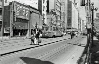 札幌市電 西四丁目停留所 1974年6月