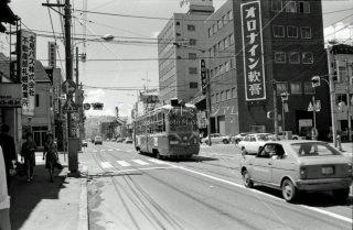 札幌市電 西八丁目-中央区役所間 1974年6月