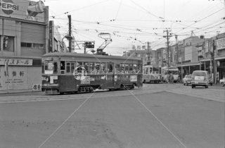 函館市電 No.514 交差点 1972年9月