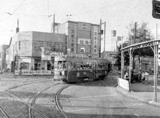 函館市電 十字街 1962年8月