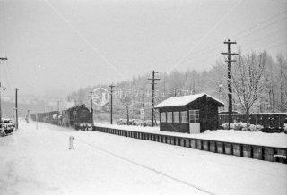 宗谷本線 問寒別駅29607蒸気機関車 1969年11月
