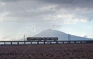 弘南鉄道 弘南線 津軽尾上駅-尾上高校前駅間 岩木山 1989