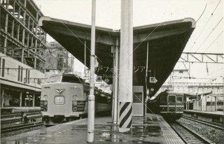 仙台駅4番線 特急電車ひばり 新幹線工事中 昭和52 1977