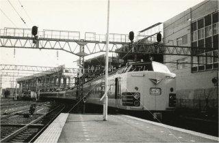 仙台駅 特急ひばり583系 新幹線工事中 昭和52 1977
