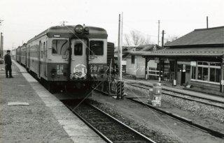 男鹿線 ディーゼルカー船越駅着 秋田県 昭和53 1978