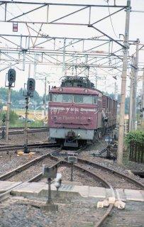 EF8032号機 貨物列車 常磐線内原 昭和58 1983