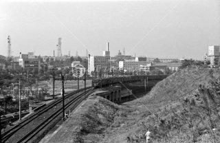 1964年3月 四ッ谷駅市ヶ谷駅間 総武線西行 中野方面行き