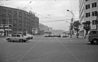 都電 虎ノ門停留所 8系統 右ポイント切替信号塔 1967年11月