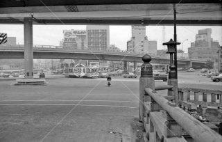 都電 3系統 赤坂見附交差点 弁慶橋 1967年11月