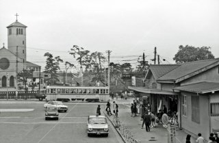 国鉄四ツ谷駅麹町口 都電11系統 四谷見附 1967年11月
