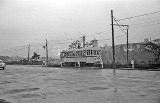 都電3系統 四谷見附-若葉1丁目間後方聖イグナチオ教会  1963年9月頃