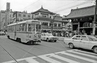 雷門停所付近 都電24系統 1972年3月