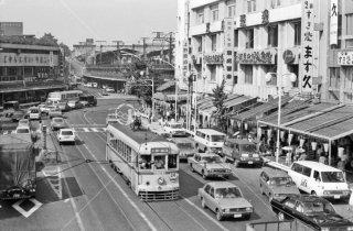 上野公園停留所付近 都電24系統 1972年8月