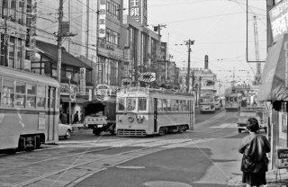 目黒駅前 都電5系統 1967年12月