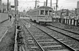 新田裏-角筈間 都電12系統の回送電車回送線 1967年9月