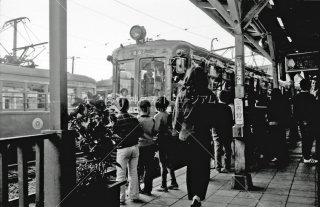 東京急行電鉄 世田谷線 上町駅 デハ80形84 1974年10月