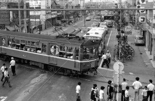 京浜急行空港線 京浜蒲田駅付近 第一京浜踏切 1969年7月