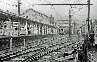 箱根登山鉄道 強羅駅 1970年4月