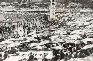 Zaimokuza Beach Kamakura 材木座海岸 昭和42年1967