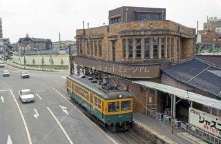 新潟交通 白山前駅 旧県庁前駅 モハ24 1987年