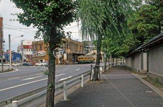 新潟交通 白山前駅 旧県庁前駅 1987年